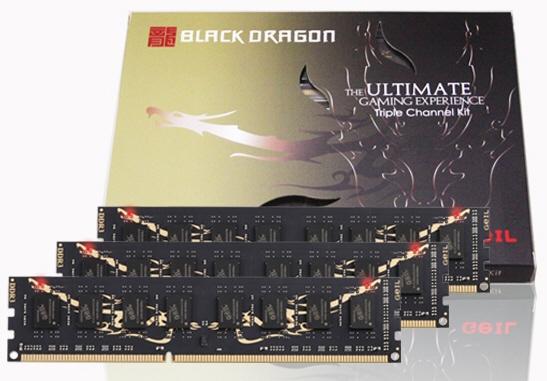 Трехканальные наборы памяти GeIL Black Dragon DDR3