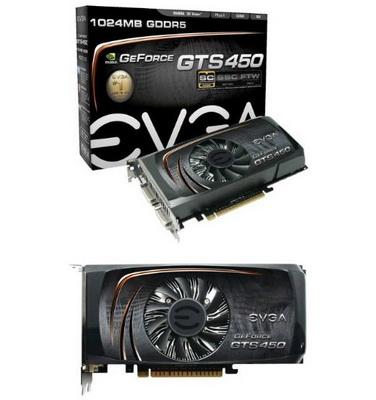 Разогнанная GeForce GTS 450 от EVGA